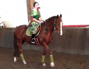Waldfee Lara Imkamp auf Feen-Pony Davina